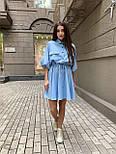 Жіноче літнє плаття льон на гудзиках з кулісою (в кольорах), фото 9