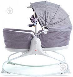 Крісло-гойдалка Tiny Love 3в1 Мамині обійми сіре з капюшоном  (1805500030)