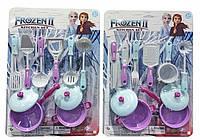Набор детской посудки на листе Frozen