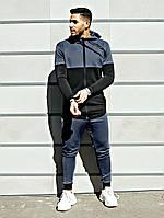 Спортивный костюм мужской Asos tech-diving (серый с черным)