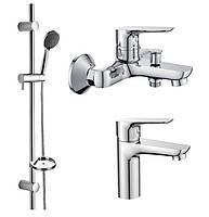 Акционный набор смесителей для ванны (3 в 1)  imprese  kit20080