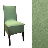 Натяжной чехол на стул Оливковый цвет