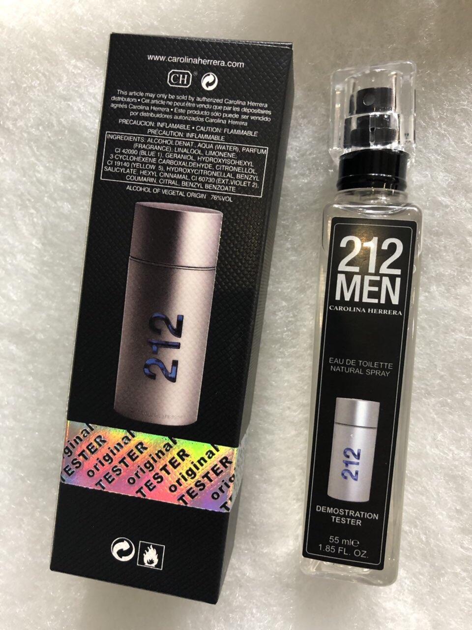 Carolina Herrera 212 Men мужская туалетная вода тестер 55 ml (реплика)