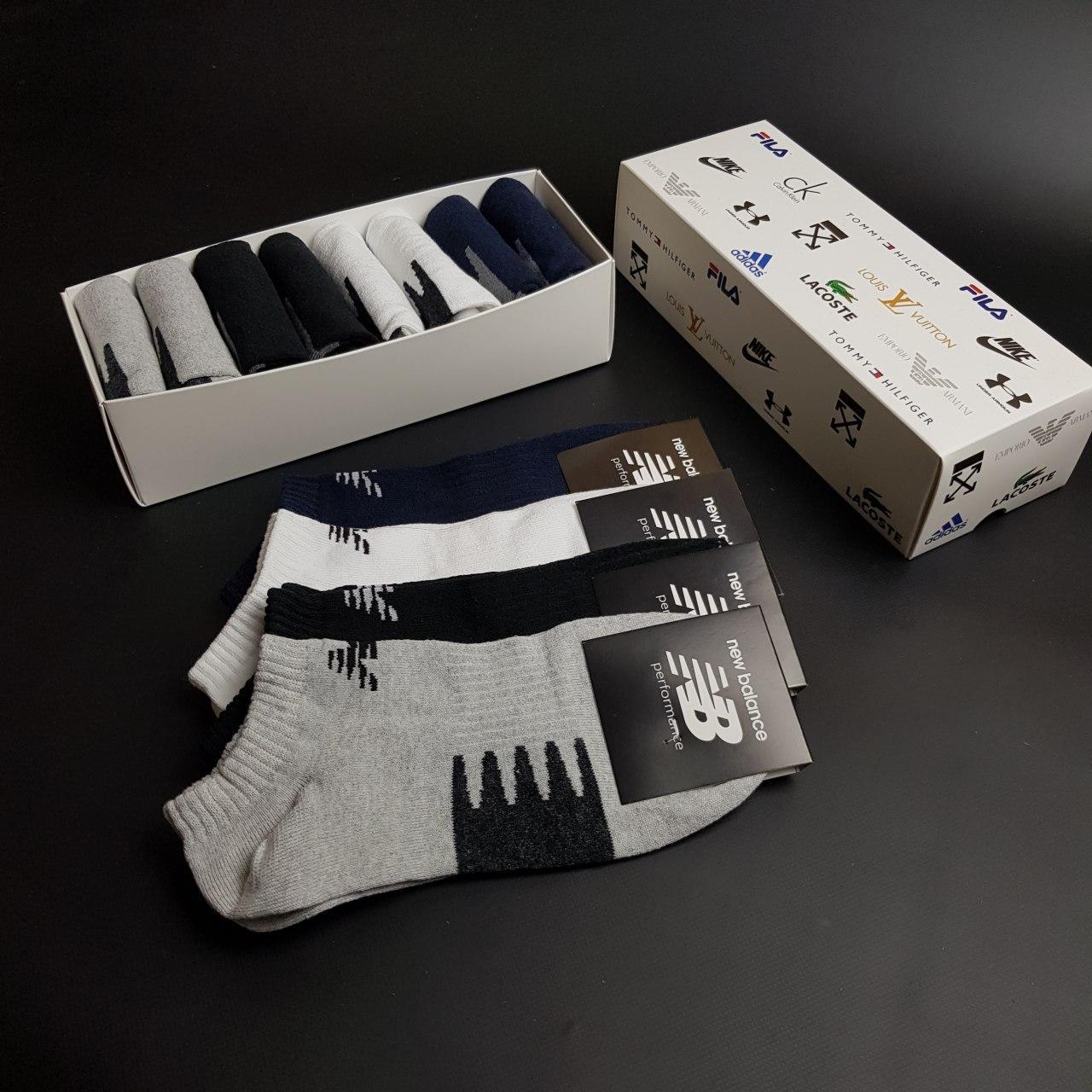 Набор коротких мужских носков New Balance 8 пар в подарочной упаковке! Реплика!