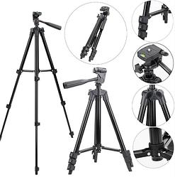 Штатив TRIPOD TF-3120B для фотоаппарата и смартфона с уровнем Черный