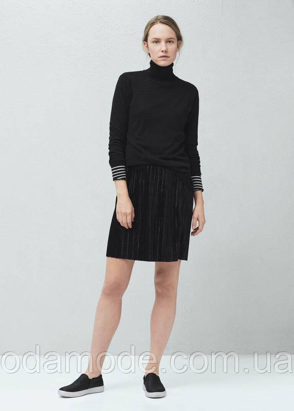 Женская юбка плиссированная mango черная