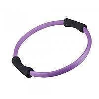 Кольцо для пилатеса LiveUp PILATE RING, пластик, неопрен, d-38см, фиолетовый (LS3167C)