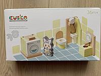 """Дитячі меблі дерев'яні Cubika """"Ванна кімната"""""""