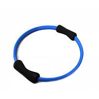 Кольцо для пилатеса LiveUp PILATE RING, пластик, неопрен, d-38см, синий (LS3167B-N)