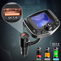 Bluetooth модулятор FM-передатчик трансмиттер для автомобиля,адаптер, быстрая зарядка QC3.0