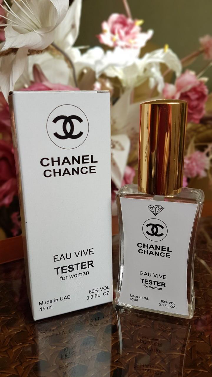 Женская туалетная вода Chanel Chance Eau Vive в тестере 45 мл Diamond (реплика)