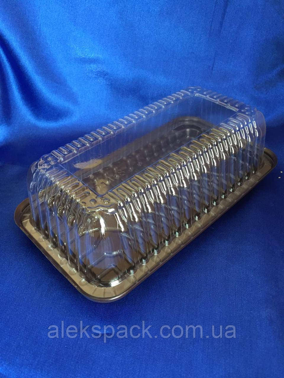 Упаковка для рулету,тортів ,морозива пластикова 1168