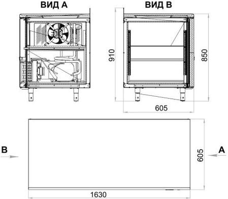Стол холодильный Polair TM3-G, фото 2