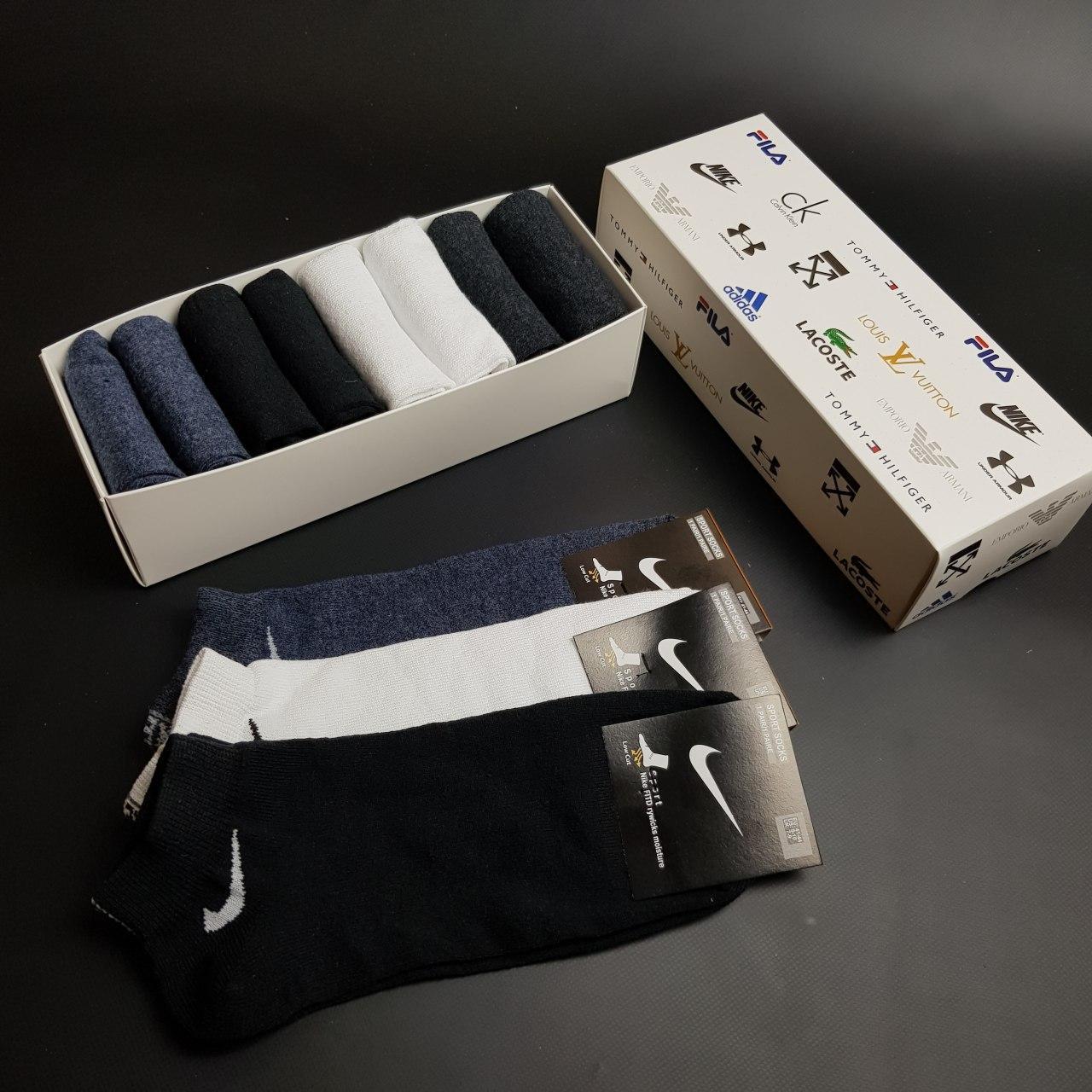 Набор коротких мужских носков Nike 8 пар в подарочной упаковке! Реплика!