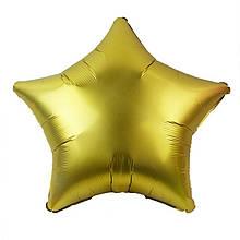 Фольгований куля 10' Китай Зірка золото сатин, 22 см 1819