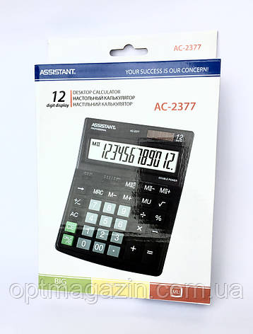 Калькулятор Assistant AC-2377 (Асистент), фото 2