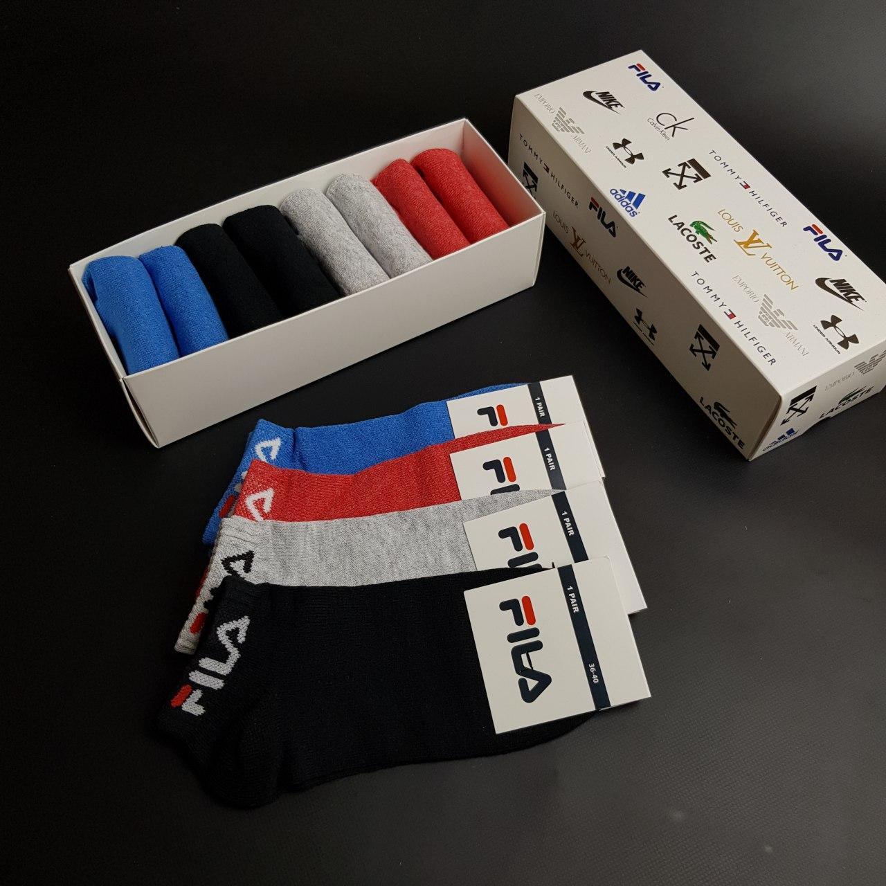 Набор коротких женских носков Fila 8 пар в подарочной упаковке! Реплика 36 - 40р