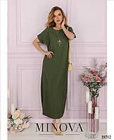 """Летнее платье в стиле """"бохо"""", рукава с небольшими отворотами с 42 по 48 размер"""