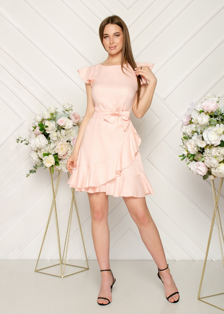 Женское летнее льняное платье.Размеры:44,46