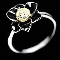 Серебряное кольцо с цирконом, 1425КЦ