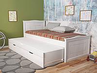 Детская кровать Компакт Плюс. Деревянная двухместная кровать