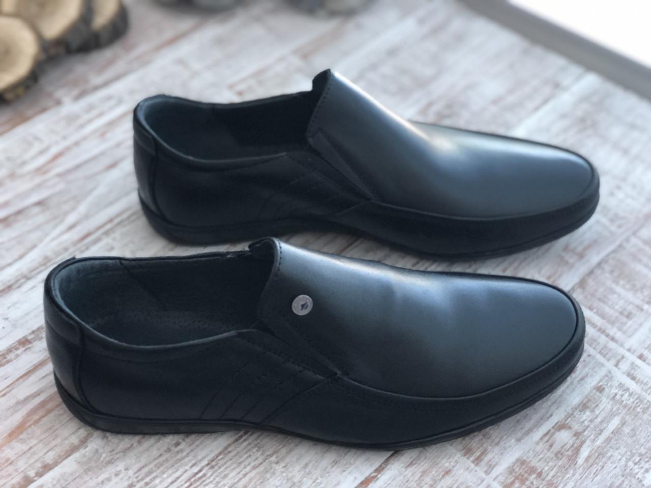 Кожаные мужские туфли 982 ч размеры 39-45