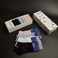 Набор коротких женских носков Tommy Hilfiger 8 пар в подарочной упаковке! Реплика 36-40р