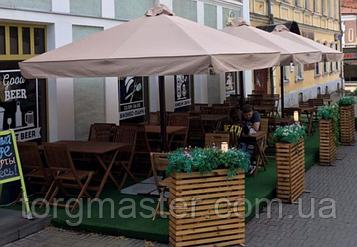 Зонт  3х3м для летних террас с плотной тканью и утяжелителями