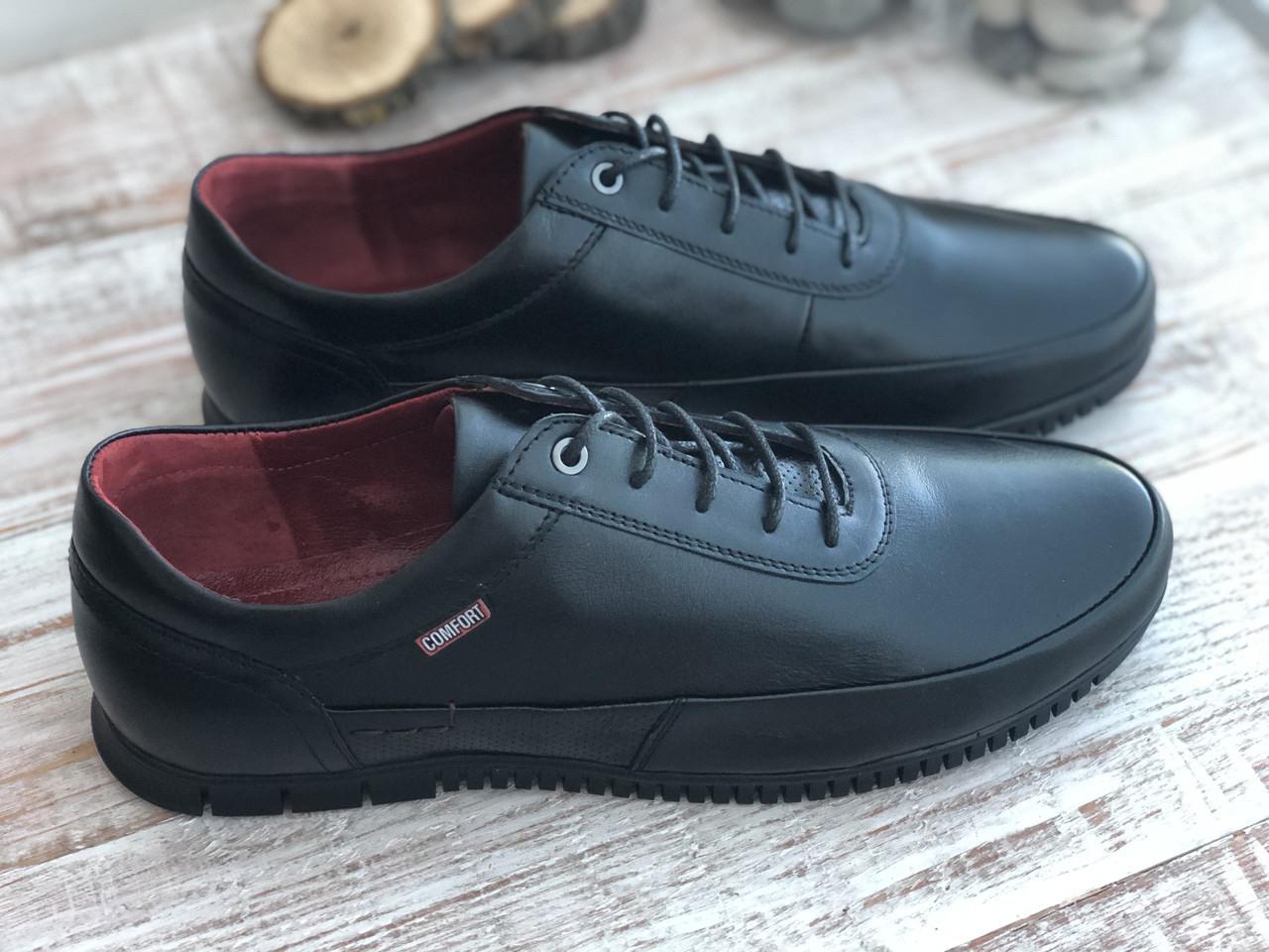 Мужские кожаные туфли 3457 ч размеры 39-45