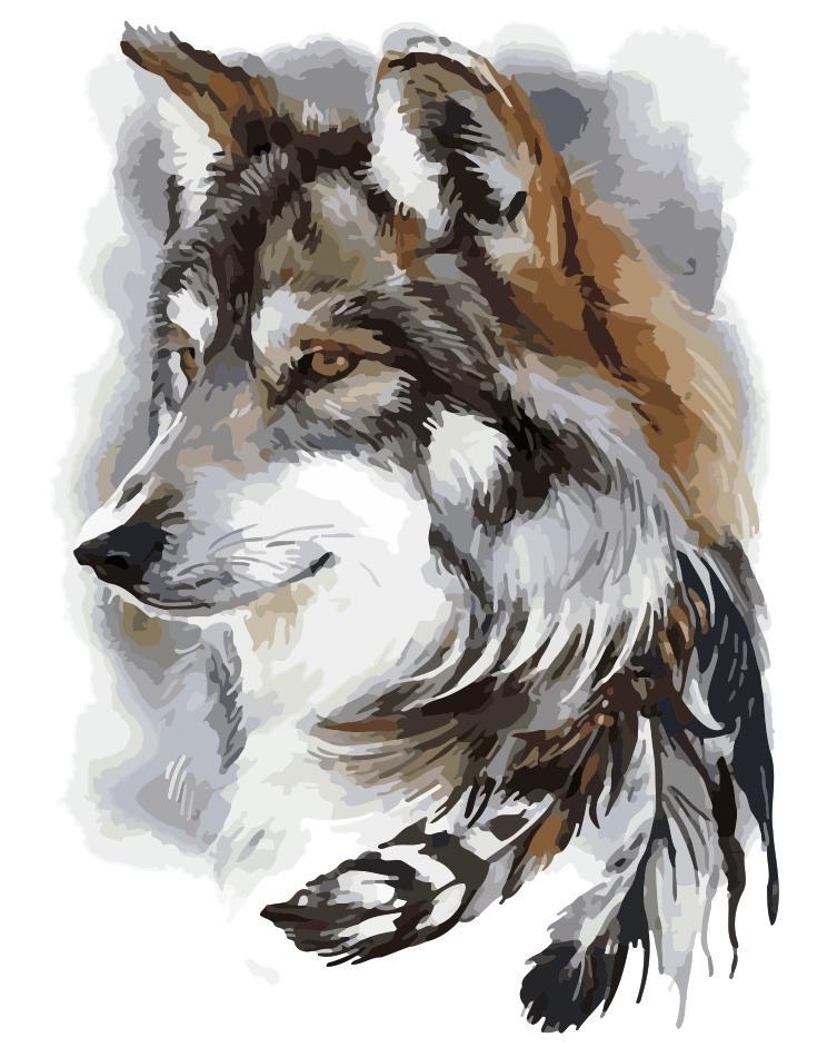 Художественный творческий набор, картина по номерам Вожак, 40x50 см, «Art Story» (AS0169)