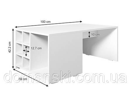 Журнальный стол, цвет белый + дуб сонома, фото 2