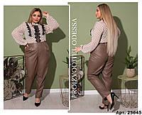 Модные женские брюки-лосины, высокая посадка, 4 цвета р.42-44,46-48,50-52,54-56,58-60  код 690Н