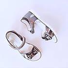 Серые открытые босоножки «Бант» от L@L девочкам, р. 31, 32, 33, 34, 35, 36, фото 10