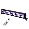 Led ультрафиолетовая панель 18х3 Вт с пультом ДУ DMX512, фото 2