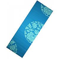 Коврик для йоги LiveUp PVC PRINTED YOGA MAT, PVC, р-р 173х61х0.6см, синий (LS3231c-06b)