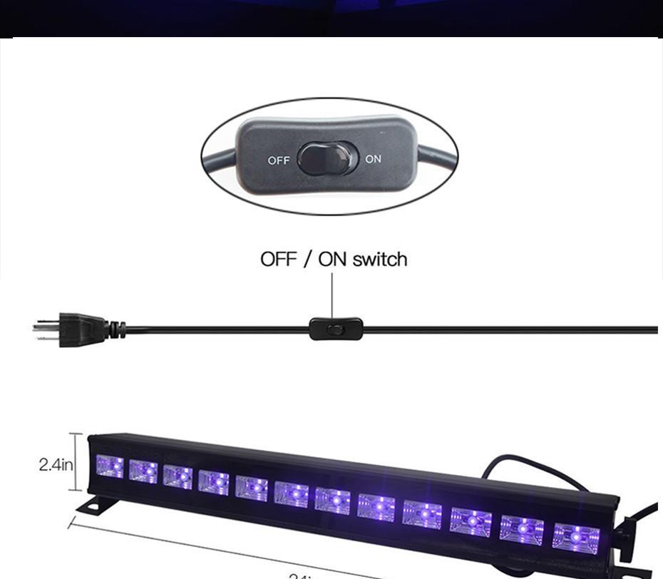 Световой прибор с ультрафиолетовым эффектом DMX512