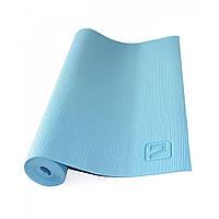 Коврик для йоги LiveUp PVC YOGA MAT, PVC, р-р 173х61х0.4см, синий (LS3231-04b)
