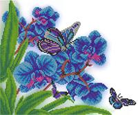 """А3 """"Дикая орхидея"""" схема для вышивки бисером"""