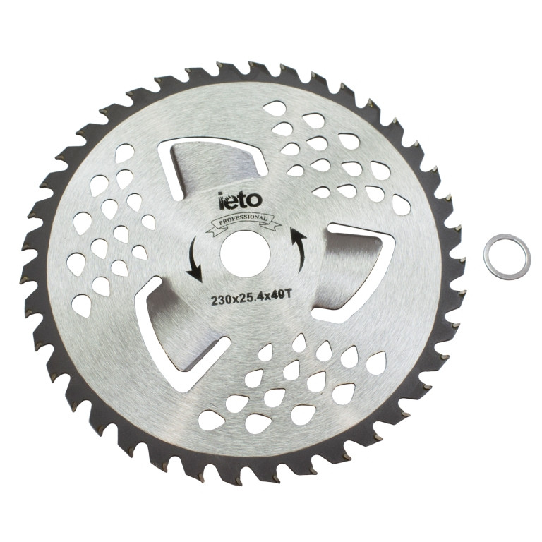 Ніж для тримера Brush Cutter Blade HD-0101 40Т (230 мм, 3 лопасті, побідитові напайки)