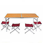 Стол раскладной + 4 стула Folding table 4 цвета, фото 2