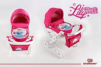 Коляска для кукол Adbor Lily white принцесса