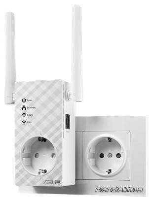 Asus Беспроводной повторитель RP-AC53 (AC750, 1хLAN, расширитель зоны Wi-Fi-покрытия, 2 внешних антенны)