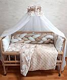 """Комплект """"постельный в детскую кроватку с конвертом"""", шоколадный, фото 6"""