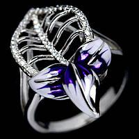 Серебряное кольцо с цирконом, 1427КЦ
