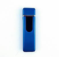 USB зажигалка сенсорная (ЮСБ-106-12) Синяя рисунок Рыбы