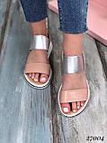 Зручні босоніжки жіночі з натуральної шкіри на резинці, закриттів задник, фото 4