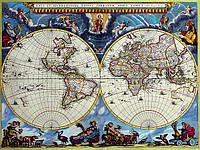 Декоративная морская карта 67см х 88см