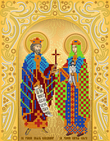 """А4 """"Св. Равноап. Владимир и Ольга"""" схема для вышивки бисером именной иконы"""