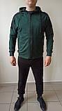 Спортивный костюм puma зелёный, серый, фото 2