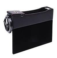 Органайзер-карман автомобильный между сиденьями с USB-портом (АО-203)